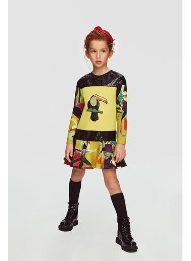 Lia Lea Kız Çocuk Desenli Elbise 20Fwll01730 Renkli